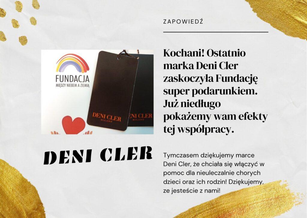 Fundacja Między Niebem a Ziemią - aktualność Deni Cler Milano